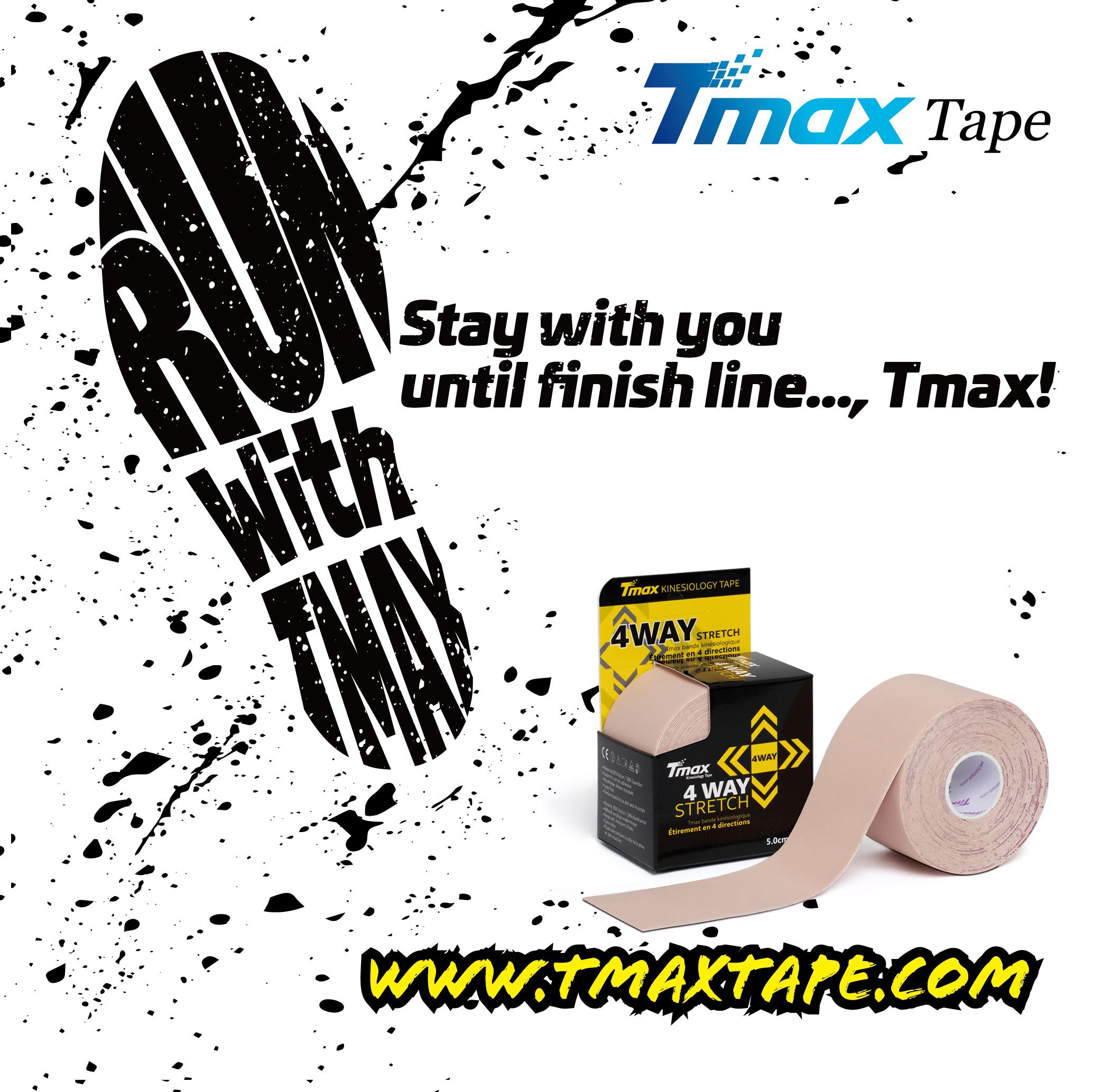 Tmax 4 Way Stretch Tape, Färg: Beige, 5mx5cm