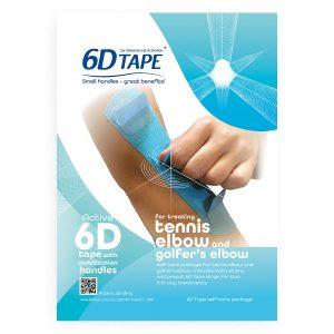 6-D Tape För Behandling Av Tennisarmbåge Och Golfarmbåge Inklusive Instruktioner