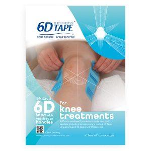 6-D Tape För Knä Behandling Inklusive Bruksanvisning Och Instruktioner