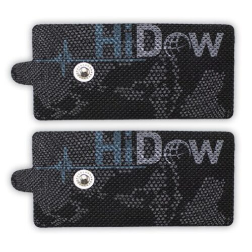 HiDow Självhäftande Elektrod, Xlarge – Stor Rektangulär Elektrod, Antal: 2styck/1par