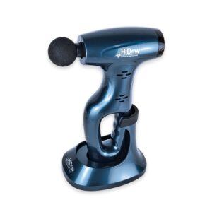 HiDow Gun – Massageapparat, Med Laddningsstation/hållare Samt 5 Olika Applikatorer