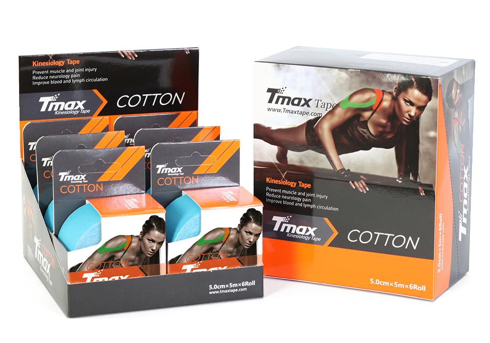 Tmax Kinesiology Tape, Cotton –  5meter X 5cm, Olika Färger, Förpackning 6 X Rullar