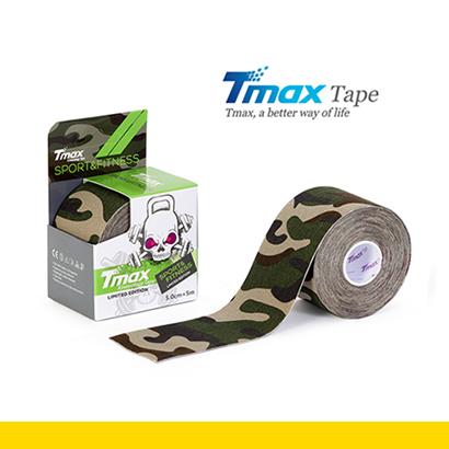 Tmax Kinesiology Tape, Camouflage Grön 5mx5cm