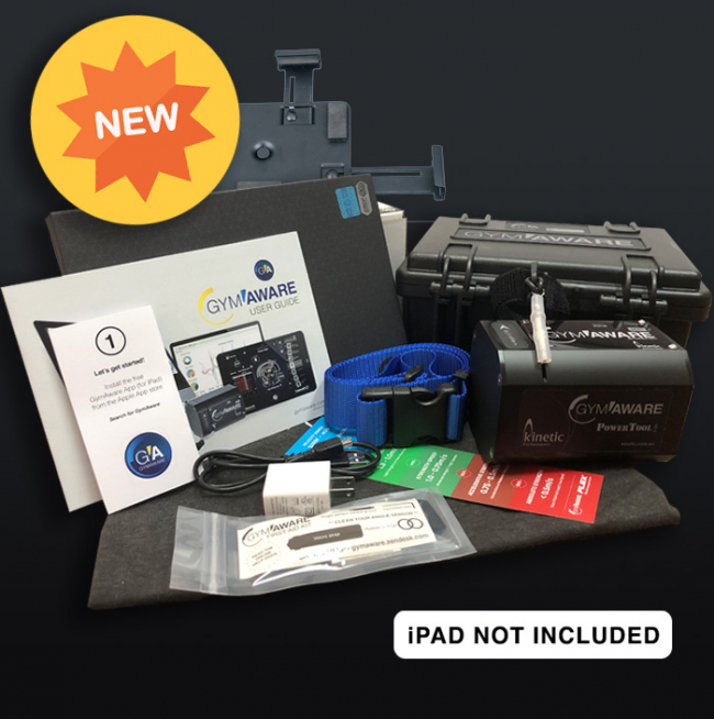 GymAware Package – Testinstrument – Bra Start Kit – Allt Inkluderat, Obs! IPad Tillkommer.