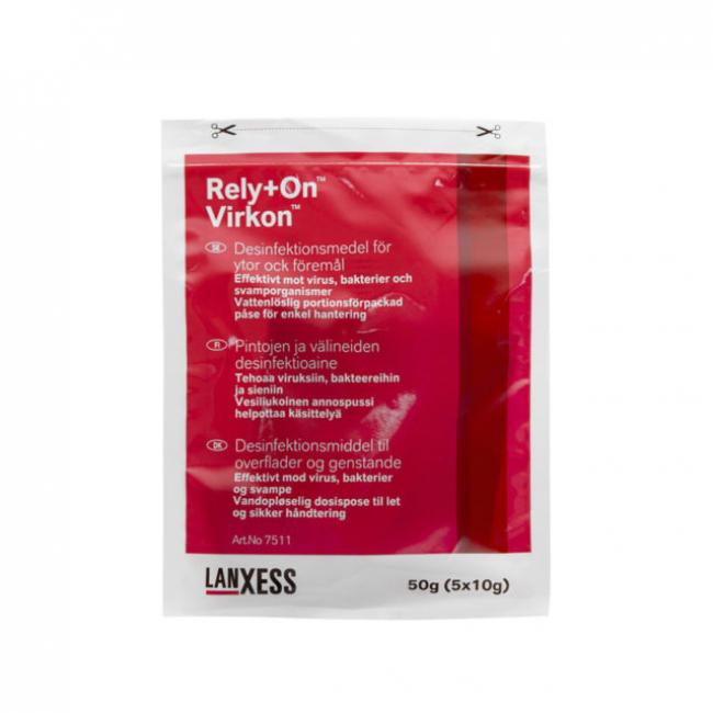 Virkon Desinfektionsmedel, 5 Påsar Om 10gram, Ger 5 Liter Färdigblandad Ytdesinfektionsmedel.