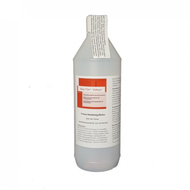 Virkon Blandflaska Inkl. 1 X Påse 10gr, Ger 1 Liter Desinfektionsmedel